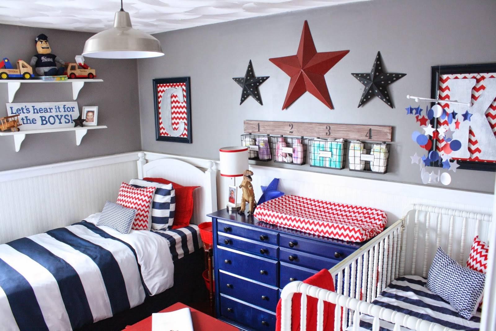 Een kinderkamer voor twee kindjes mommyhood - Kleur voor baby boy kamer ...