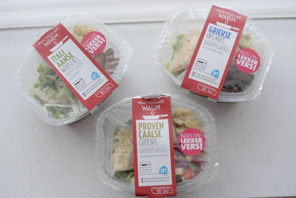 Lichte, warme salades van Albert Heijn