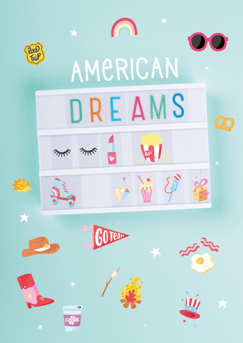 LTLE026-HR-2 letter set american dreams_preview