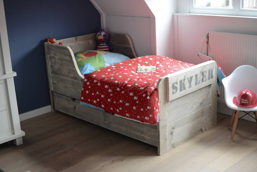 Peuterbed Of Groot Bed.Win Special Pink Peuterbed Skyler Mommyhood