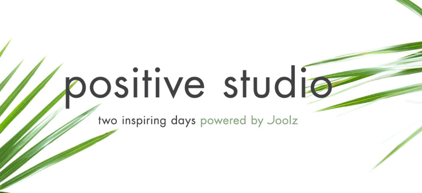 Aankomend weekend: Joolz Positive Studio