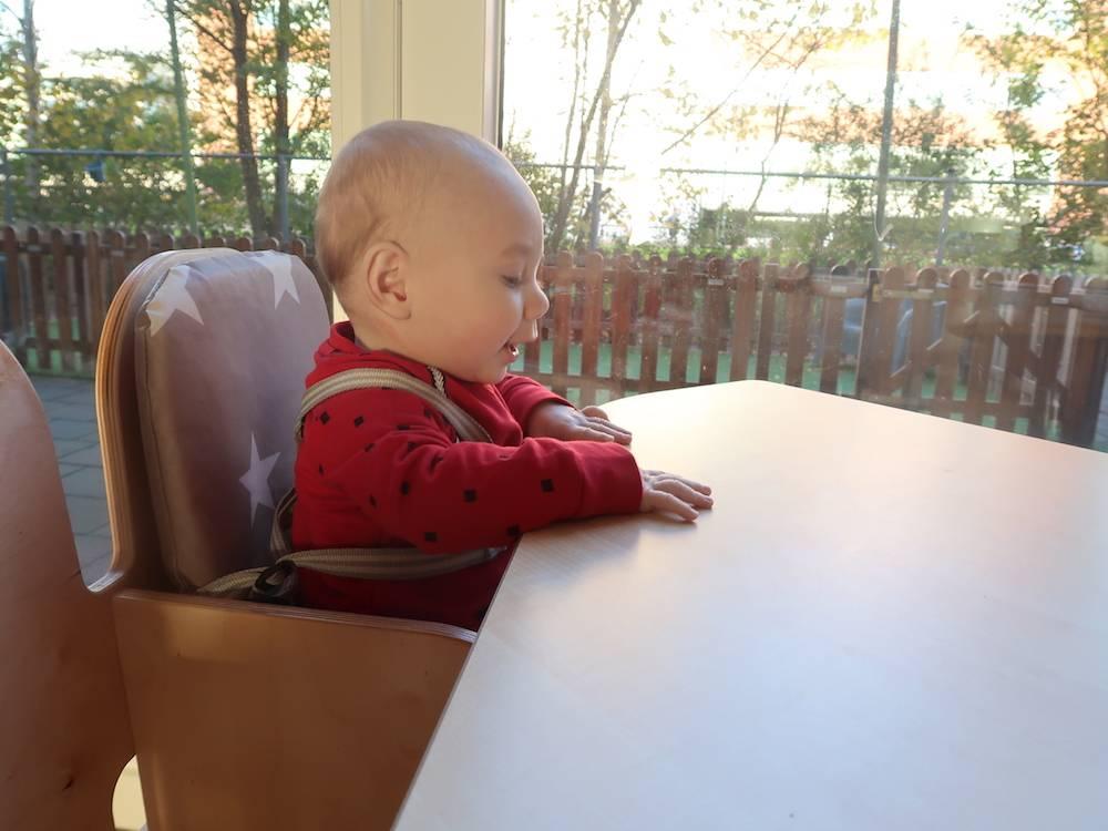 Maddox gestart op het kinderdagverblijf