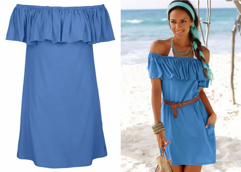 soli3ver-red-label-beachwear-strandjurk-blauw
