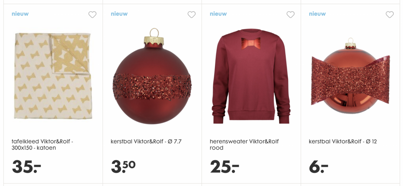 herensweater Viktor&Rolf rood HEMA