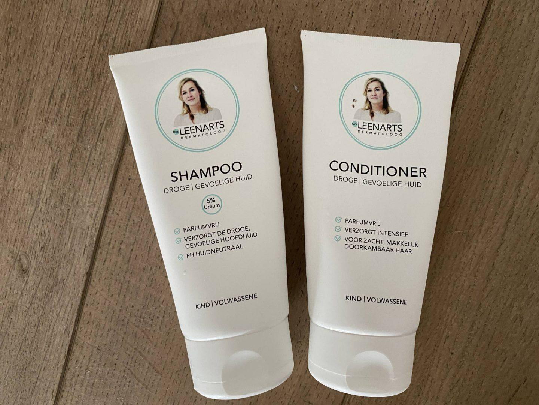 De shampoo en conditioner van Dr. Leenarts (eczeem op hoofdhuid)