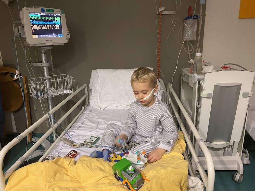 De ziekenhuisopname van Maddox